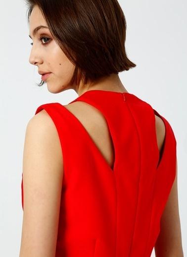 Random Askılı Kısa Elbise Kırmızı